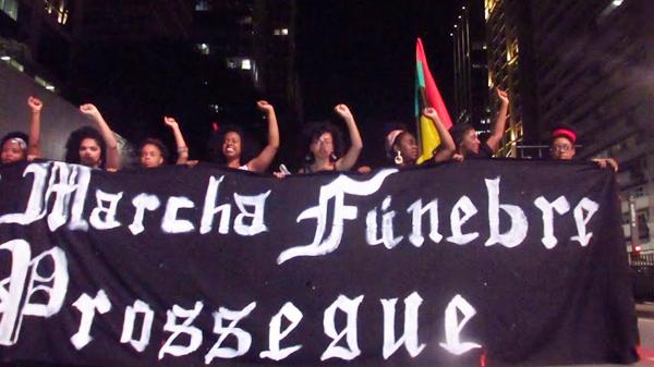 Marcha internacional contra o genocídio do povo preto