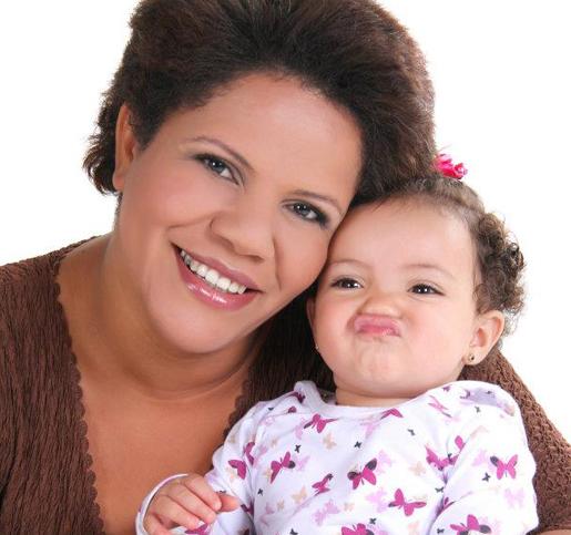 Mariluci com sua filha
