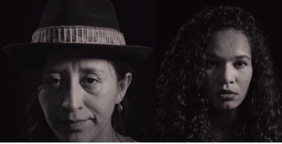 Jobana Moya, boliviana da Base Warmis e Jéssica Moreira, do Nós, mulheres da periferia