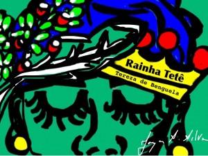 Rainha Tetê/ crédito: ilustração de Joyce Santos Silva