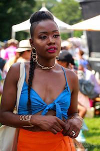 Lisa Jean durante o CURLFEST 2017/ Foto de Maria Ribeiro