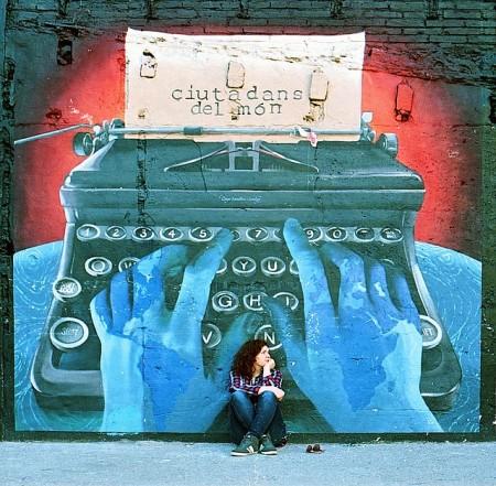 grafite mulher escritora menor